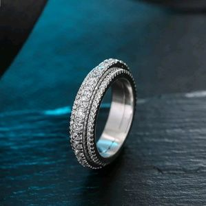 Jewelry - Real S925 Sterling Silver Rotating Ring